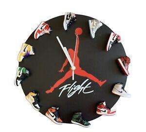 Air Jordan Wall Clock with 3D Mini Sneakers Clock Nike Clock Sneaker Clock DECOR