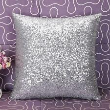 HOT Home Decor Solid Color Glitter Sequins Throw Pillow Case Cafe Cushion Covers