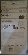 Lot 5 Chocolatier Magazine 1986 Mar, May, July, Sept, Nov Free Shipping!