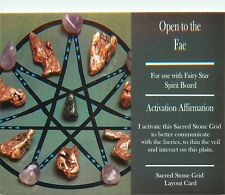 "OPEN TO THE FAE Grid Card 4x6"" Heavy Cardstock For Use with Healing Crystals"