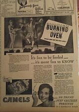FEB 7, 1933 NEWSPAPER #J5604- BURNING OVEN COOKS THE STEAK, BUT NOT THE MAGICIAN