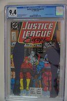 Justice League Europe #6 CGC 9.4 (1989) 1st Appearance Crimson Fox