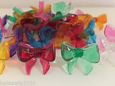 25 VINTAGE BOWS MEDIUM BULBS 8 COLORS with RED Ceramic Christmas Tree Lights NEW
