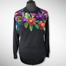 Vintage Silk Angora Sequin De Rotchild Sweater Lg