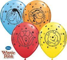 "5 x Winnie The Pooh Balloons - 11"" latex Qualatex Birthday Party"