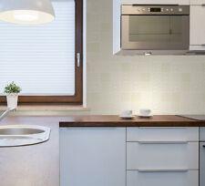 Papel pintado Decorativo Elegante - Cerámica Patchwork Azulejo - BEIS / blanco
