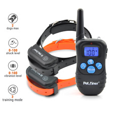 Petrainer Dog Shock Collar Rechargeable Remote Training Pet E Collar for 2 Dogs