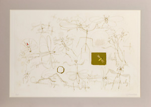 Claus Hoie, Insects, Etching with hand coloring, signed and numbered in pencil