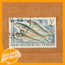 old rare vintage antique CONGO 1960s 'Sea Fish Wild Animal Fauna' Stamp MH