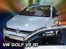 VW Golf VII 3 door Front wind deflectors 2pc TINTED HEKO