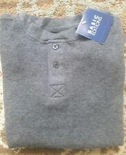 NWT Boys Long Sleeved Waffle Thermal Shirt Sz 4 / 5 Charcoal Gray Basic Editions