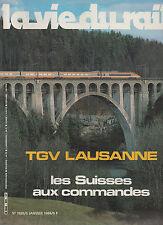 la vie du rail N°1925 TGV lausanne les suisses 1984