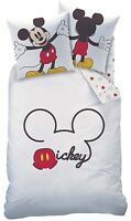 Bettwäsche Mickey Mouse weiß rot 135 x 200 cm, 80 x 80 cm