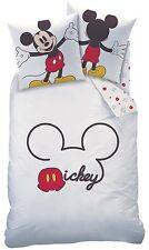 Linge de lit Mickey Mouse blanc rouge 135 x 200 cm, 80 x 80 cm