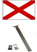 2x3 2'x3' St. Patrick's Cross Flag Aluminum Pole Kit Set