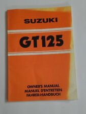 SUZUKI GT125 OWNERS MANUAL
