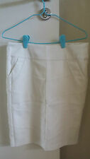 Relatively NEW White Skirt with side pockets - $9