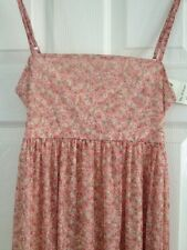 Miss Selfridge Long Holiday Dress - Peach/Pink  Floral size 10 - BNWT - RRP £39