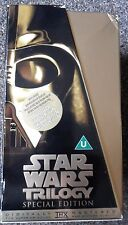 STAR WARS VHS VIDEO SPECIAL EDITION 3 FILM TRILOGY GOLD COLLECTORS BOX SET VGC!