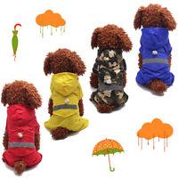 Pet Dog Puppy Cat Rain Coat Raincoat Waterproof Clothes Rainwear Hood Reflective