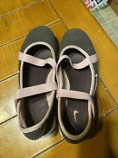 Nike Girls Mary Jane Brown Pink Shoes Sneakers Size 2.5