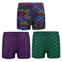 Kids Girls Stretchy Hot Pants Shorts Dance Gym Sports Tutu Shorts Age 2-12yrs