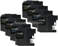 (8) LC203 XL Compatible Ink Cartridges For Brother MFC-J5520DW J5720DW