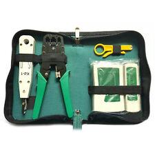 5pcs/Set Network Ethernet Cable Tester RJ45 Kit Crimper Crimping Tools Punch