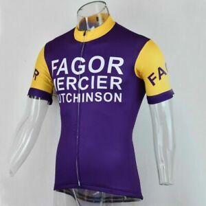 FAGOR MERCIER HUTCHINSON Cycling Jersey mens team cycling Short Sleeve jersey
