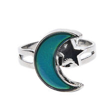 Turtle Mermaid Moon Color Change Ring Mood Emotion Discoloration Adjustable Ly