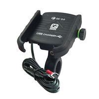 Cargador USB aluminio teléfono manillar motocicleta  QC 3.0 de carga rápida