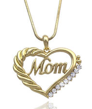 MOM Heart Clear Crystal Pendant Necklace Gift for MOM Mother In Law GIFT BOX