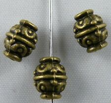 100pcs Tibetan Silver/Bronze Nice Flower Spacer Beads 9x7mm 1034