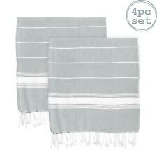 Turkish Cotton Towel Beach Bath Gym Hammam Peshtemal Fouta Throw Grey x4