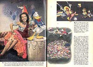 DONALD DUCK 1944 THREE CABALLEROS DISNEY PHOTO ANIMATION PICTORIAL JOSE CARIOCA