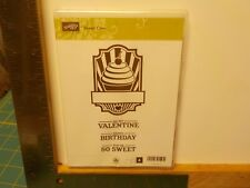 STAMPIN UP SWEET CAKE VALENTINE BIRTHDAY SET OF 4 CLEAR MOUNT STAMPS NEW A13712