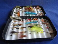 Un ottimo Profondo Richard Wheatley FLY BOX + raccolta delle mosche