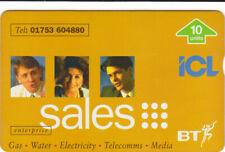 BT Private 404 ICL International Computers Ltd, Sales, People, mint phonecard