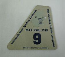 1975 Indianapolis 500 Pit Badge Back-Up Card #9 Has Damage