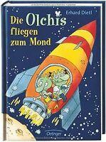 Die Olchis fliegen zum Mond von Dietl, Erhard | Buch | Zustand gut