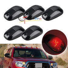 5x Red Bulb-in Cab Roof Marker Lights For Car Truck SUV 4x4, Smoked Lens Lamps
