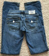 True Religion Boot Cut Distressed Jeans Women size 24 inseam 33