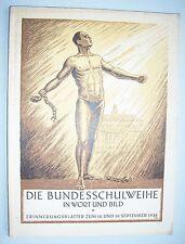 Die Bundesschulweihe in Wort und Bild 1926 illustriert Turnen Turnerschaft !