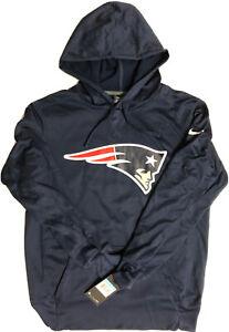 Nike Mens Blue New England Patriots NFL Team Hoodie Sweatshirt Medium 829449-419