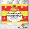 Personalised Waffle The Wonder Dog Birthday Party Kids Invitations Invites