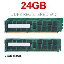 6x 4GB 24GB DDR3 ECC RAM Speicher für DELL Precision T3500 REG PC3-10600R