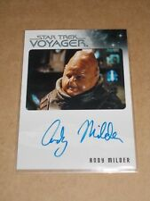 Star Trek Quotable Voyager Andy Milder as Nar autograph MINT