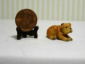 "Miniature Little Bulldog 21"" scale or even 1/2"" scale  1"" long"