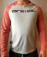 Animal Men's Locket Crew Neck Long Sleeve T-shirt Grey Marl Medium