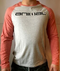 ANIMAL MENS Light Grey  Long Sleeve T-Shirt  tee for Men SIZES XS/S/XL FREE PP